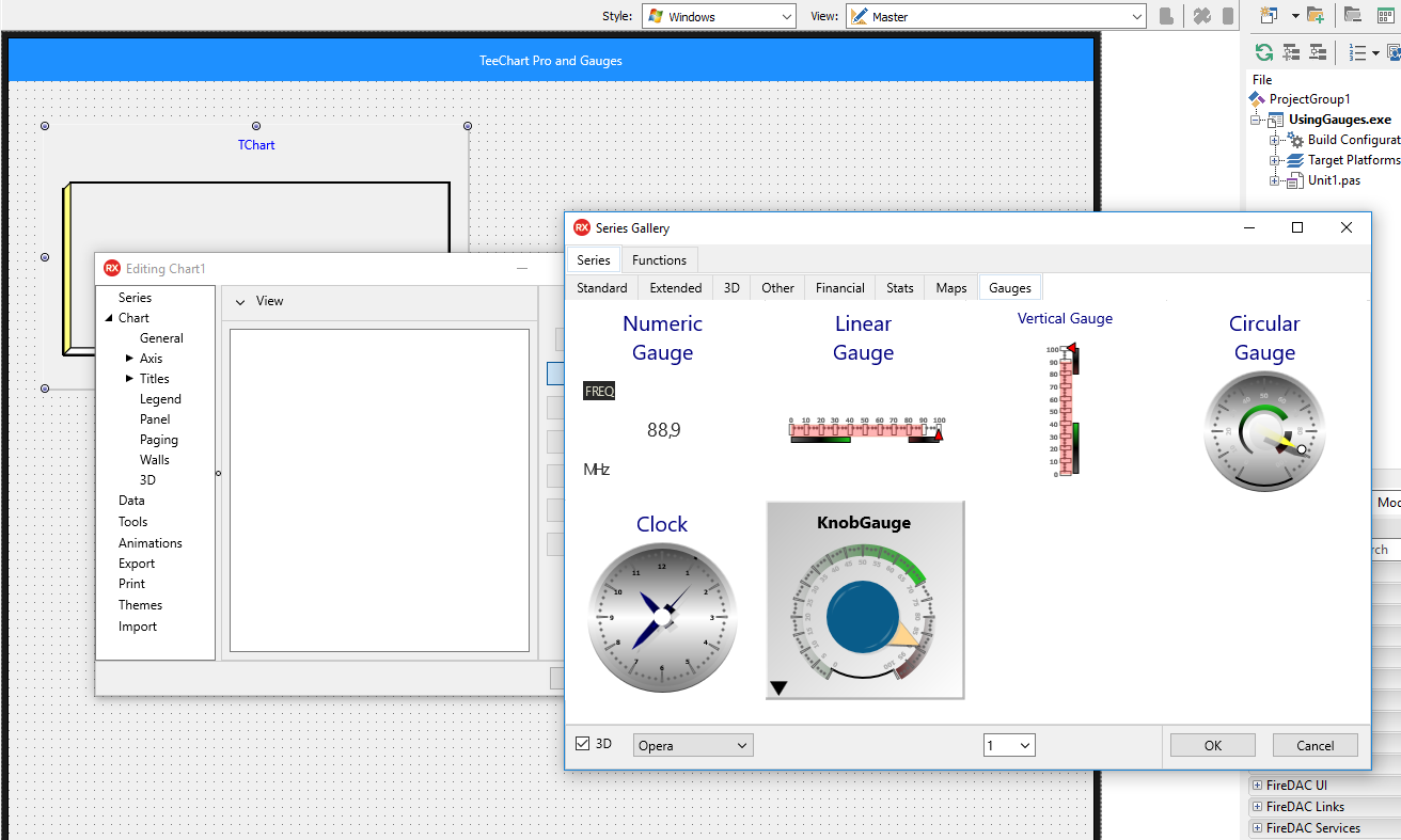 Creating Gauge Visualizations with TeeChart Pro VCL / FMX in